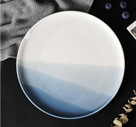 Hand Painted Ceramic Ombre Plate