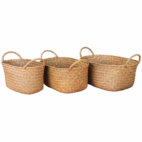 Woven Storage Basket with Handles