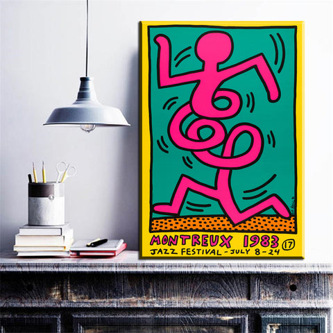 Keith Haring Jazz Festival Print