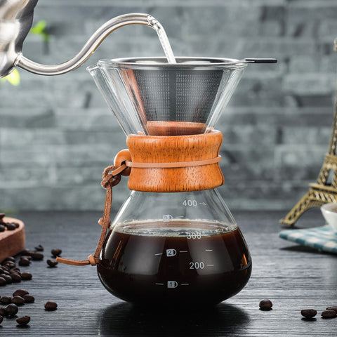 Glass Coffee Maker W/ Filter