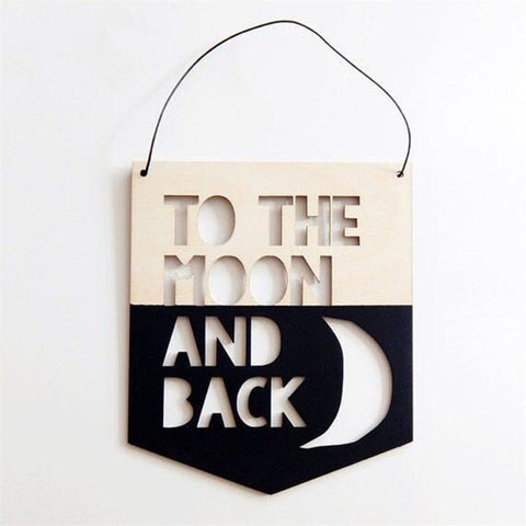 Moon and Back Wall Hanging