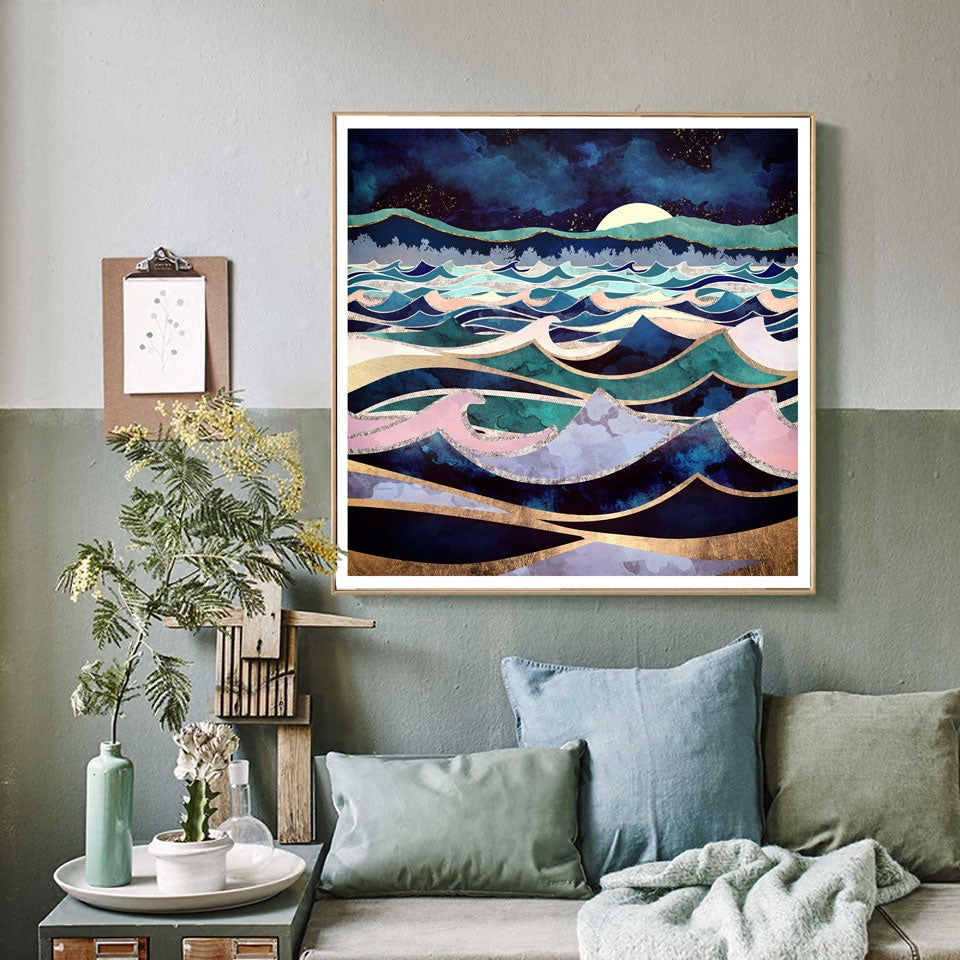 Ocean & The Moon Art Print