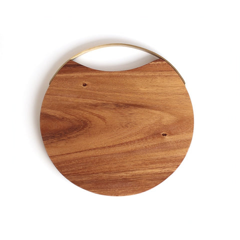 Circular Cutting Board with Handle