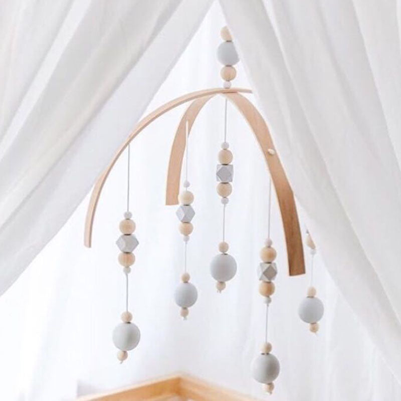 Nordic Wooden Wind Chimes Baby Mobile