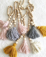 Wood Bead Tassel