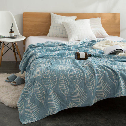 Leaf Print Bed Spread