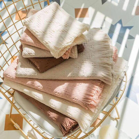 Fringed Bath Towel Two-piece Set