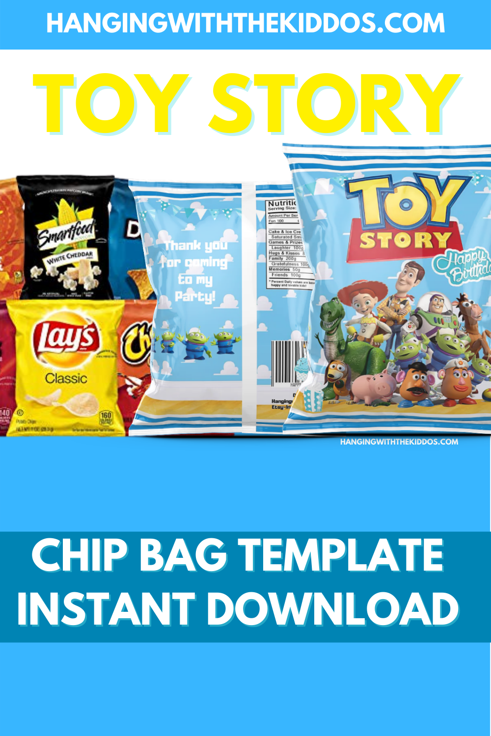 FREE TOY STORY PARTY PRINTABLE CHIP BAG TEMPLATE