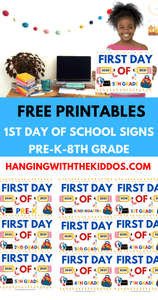 First Day of School Signs free printables - CUSTOM PARTY FAVORS