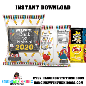 BACK TO SCHOOL CHIP BAG TEMPLATE
