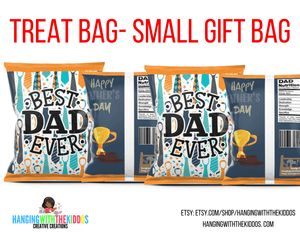 Father's Day Chip Bag Template 2 Instant Download Printable