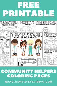 COMMUNITY HELPERS COLORING PAGES PRINTABLE - CUSTOM PARTY FAVORS