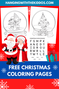 Free Christmas Coloring Pages - CUSTOM PARTY FAVORS