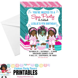 Girls Spa Party Backdrop | Spa Party for Girls | Personalized Custom Backdrop Digital Backdrop - CUSTOM PARTY FAVORS
