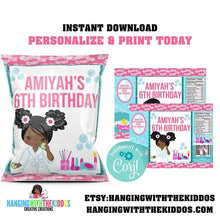 Load image into Gallery viewer, Spa Party for girls  Custom Chip Bags - CUSTOM PARTY FAVORS