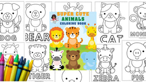 Animals Coloring Book| Printable colouring book for Kids and Adults| Zoo Animal |Farm animals