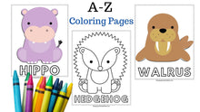 Load image into Gallery viewer, Animals Coloring Book| Printable colouring book for Kids and Adults| Zoo Animal |Farm animals