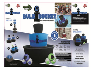 BULZiBUCKET - Next Generation Cornhole, Indoor/Outdoor, Land and Pool.