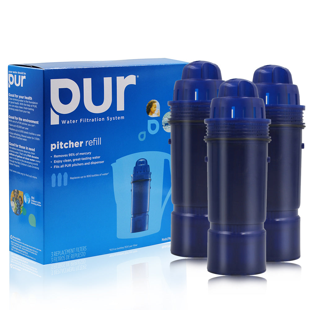 3pack Pur Crf-950z 2-stage Water Filter Pitcher Jug Replacement With Retail Box