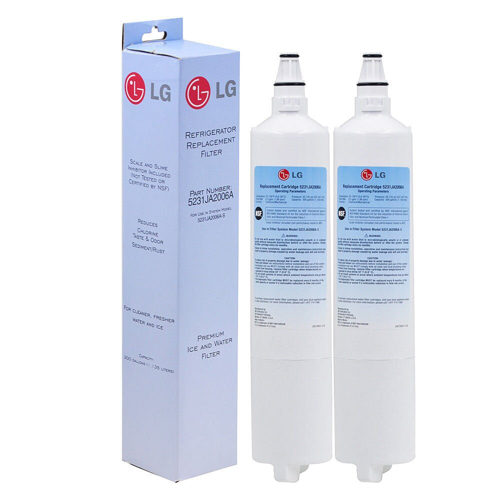 2pcs Genuine LG Lt600p 5231ja2006a 46-9990 Kenmore Refrigerator Water Filter Sealed