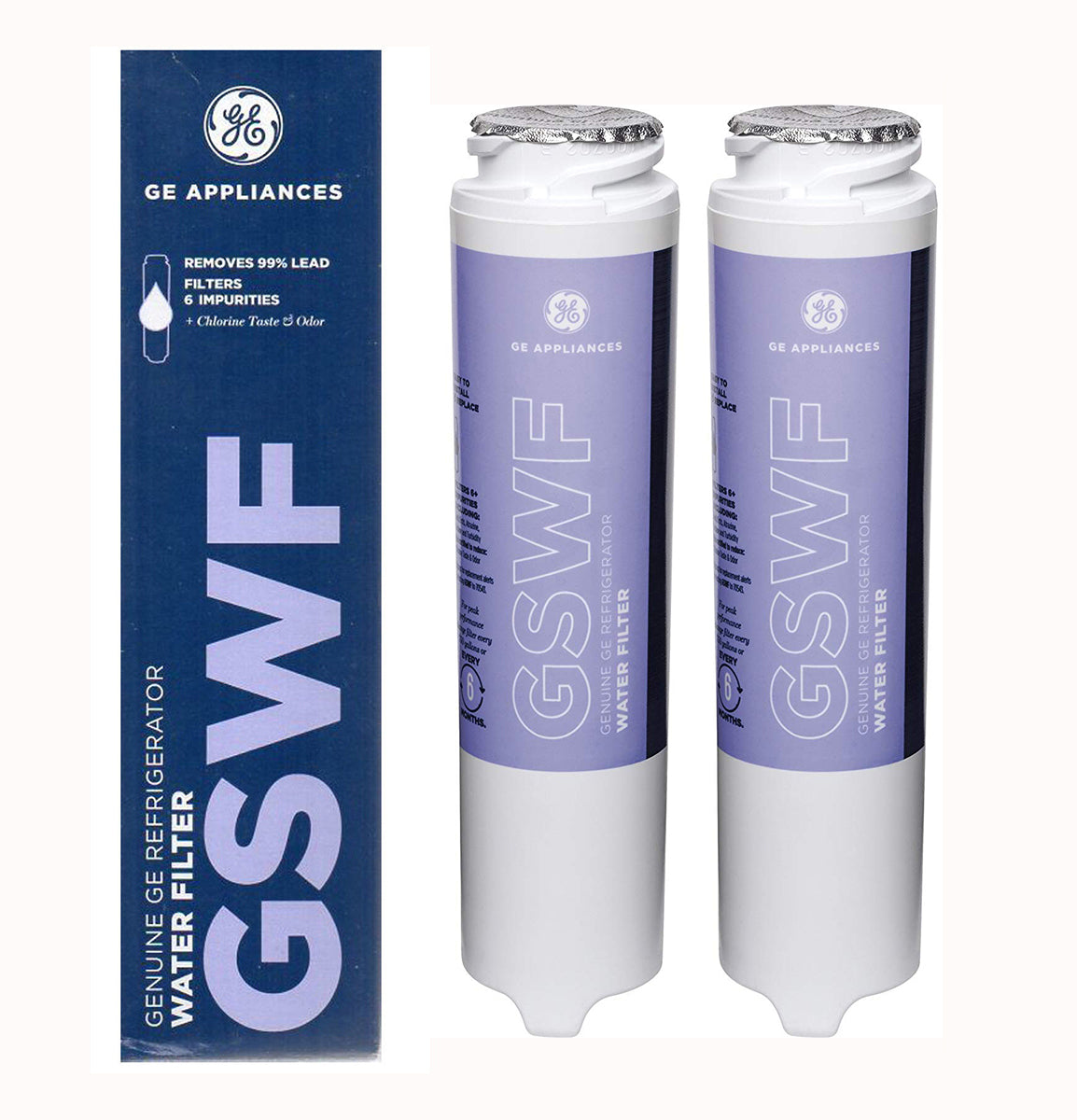 2Pack GE GSWF General Electric Refrigerator Water Filter Cartridge New
