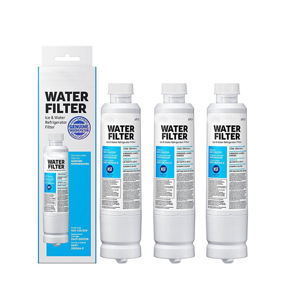 3pack Genuine Samsung Da29-00020b Haf-cin/exp Aqua-pure Plus Mineral Water Filter Sealed