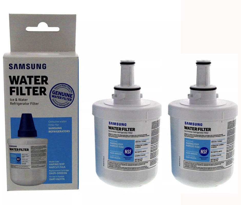 2pack New Version Samsung Da29-00003g Aqua-pure Plus Refrigerator Water Filter Genuine Sealed