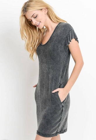 Casual Charcoal Dress