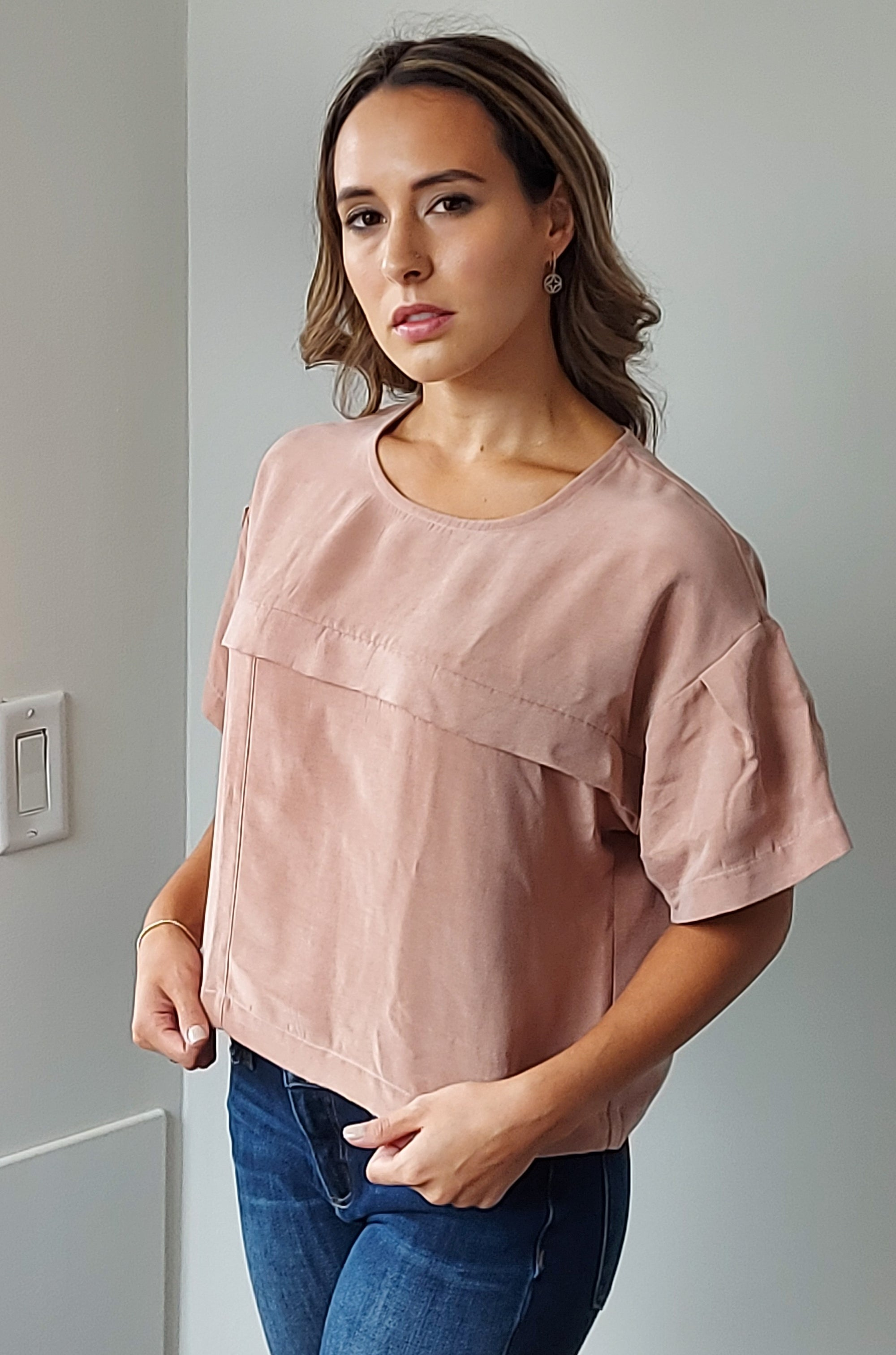 Ever After Top in Dusty Pink