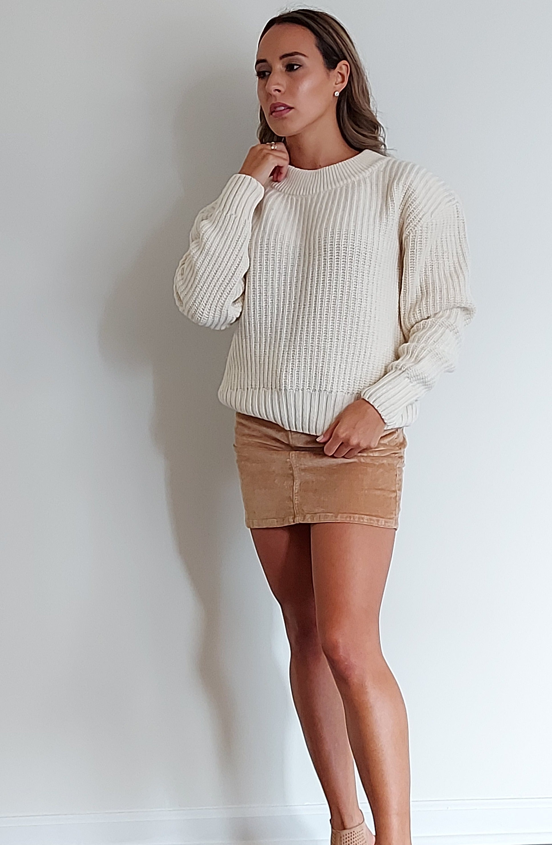 Coco Sweater in Ecru