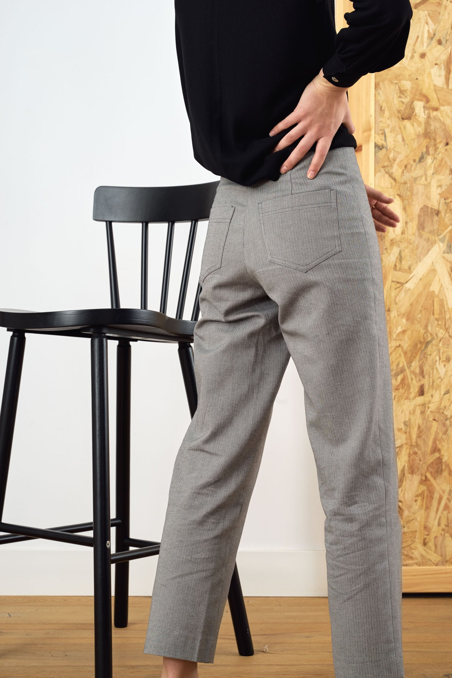 Sunad Caruncho Espiga Trousers with a high-rise waist and straight legs