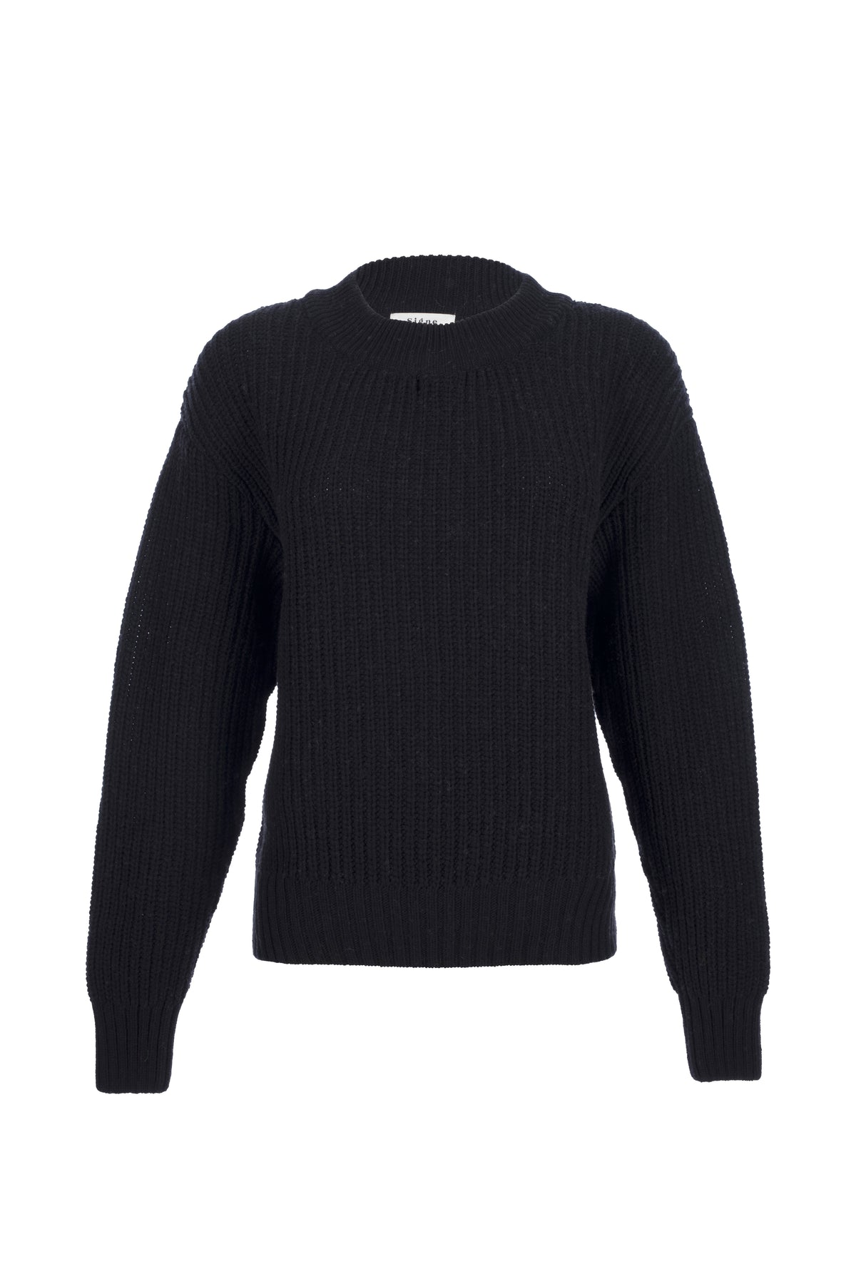 By Signe Coco Sweater in Black with a crewneck and long sleeves.