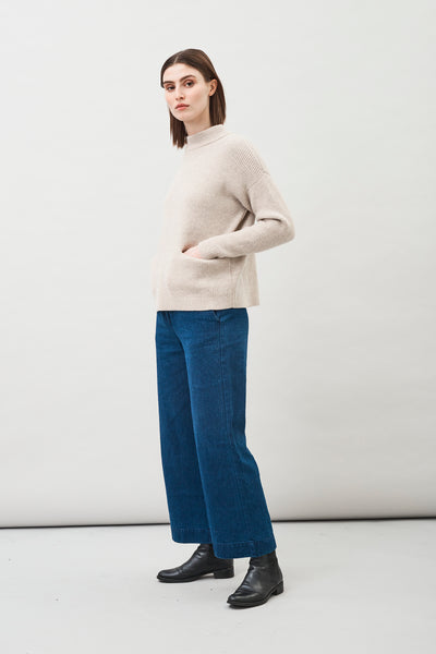 Helga Wool Sweater in Oat