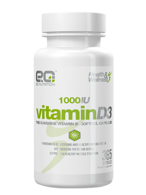 Vitamin D3 365 Tablets - EQ Nutrition