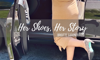 Her-Shoes-Her Story: Brigitte Gardner in high-heels, feeling comfortable in her pump shoes.
