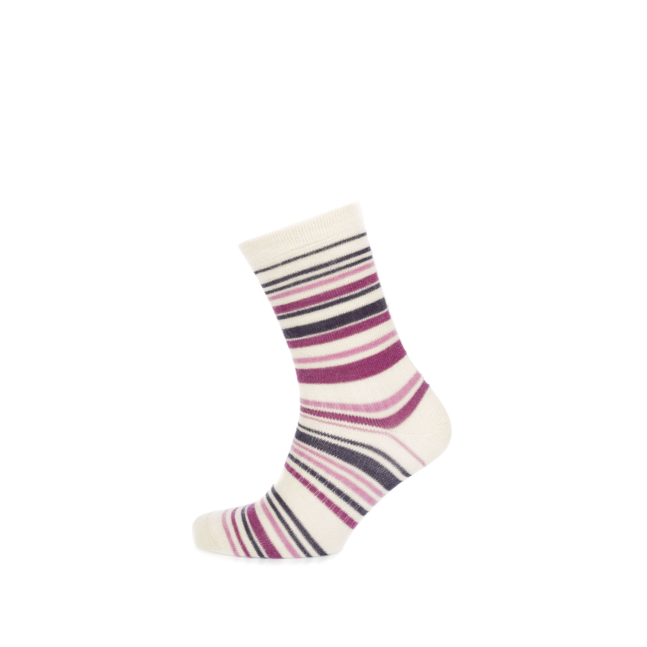 Kid Mohair Striped Sock