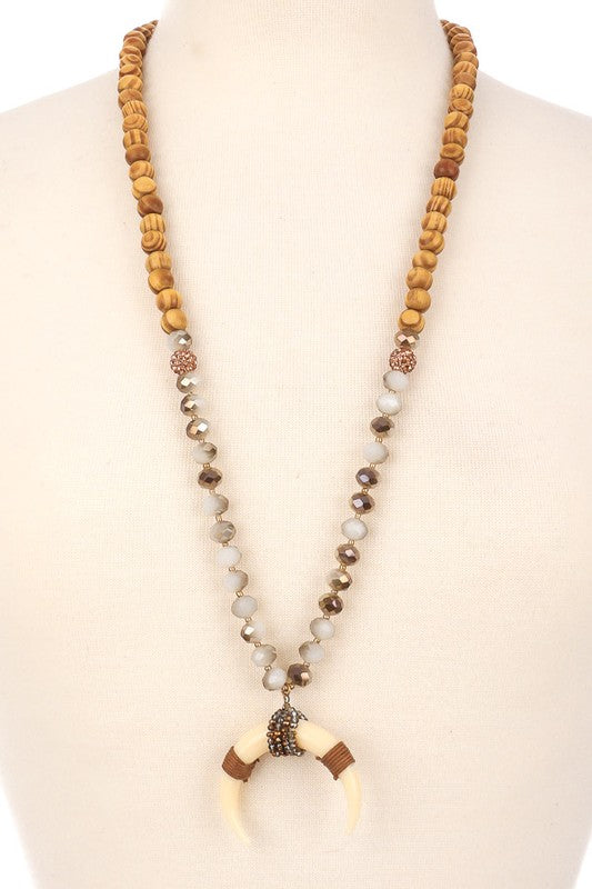 Crescent Beaded Necklace