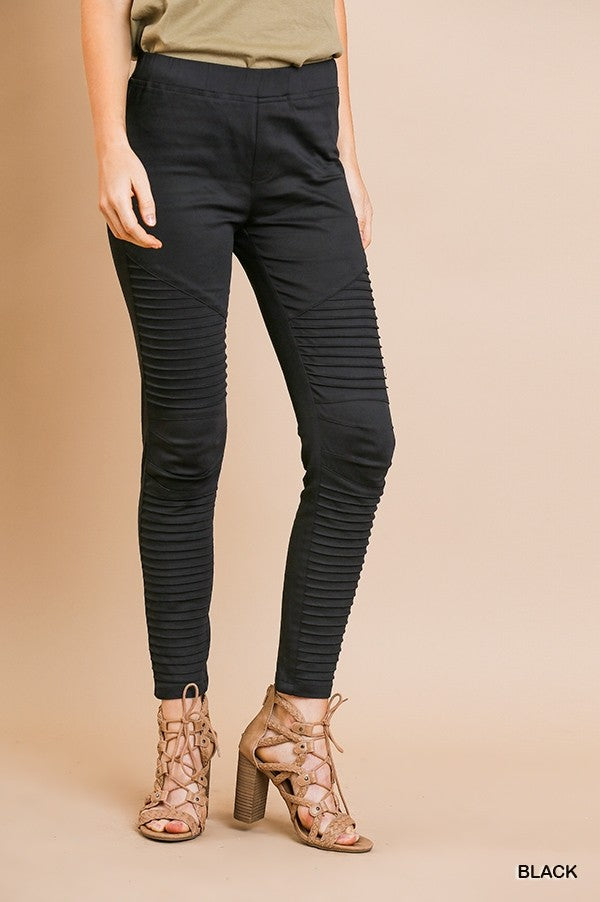 Black Motto Pants