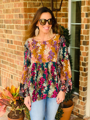 Fall Florals Top