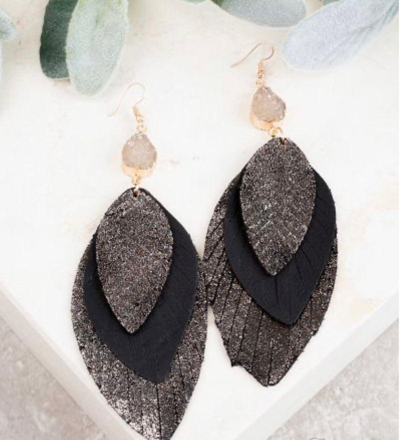 Nothing Better Earrings-Black