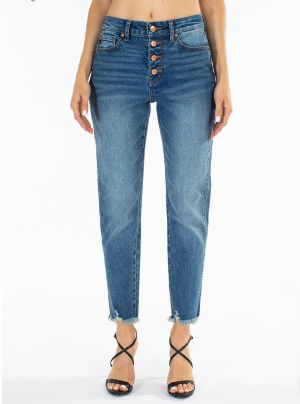High Rise Boyfriend Denim-Medium