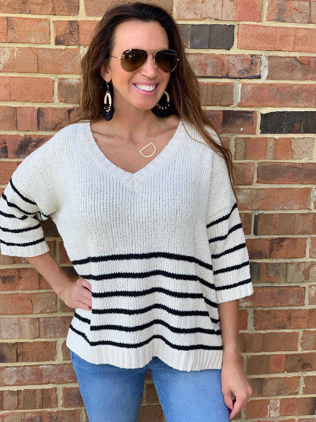 Striped Delight Sweater