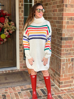 Campfire Cozy Sweater Dress