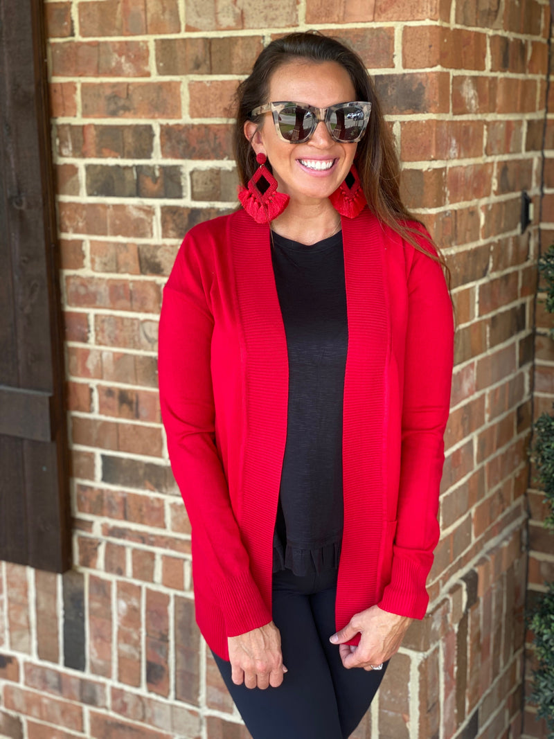 The Favorite Cardi-Red