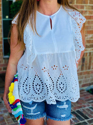 All Eyes on Eyelet Top