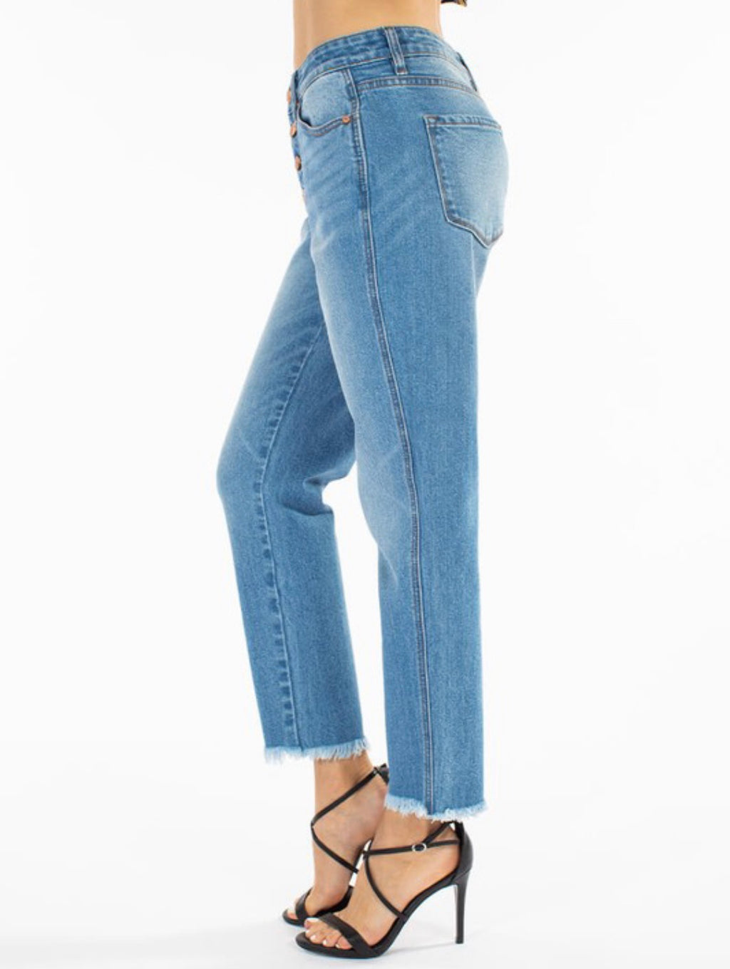 High Rise Boyfriend Denim-Light