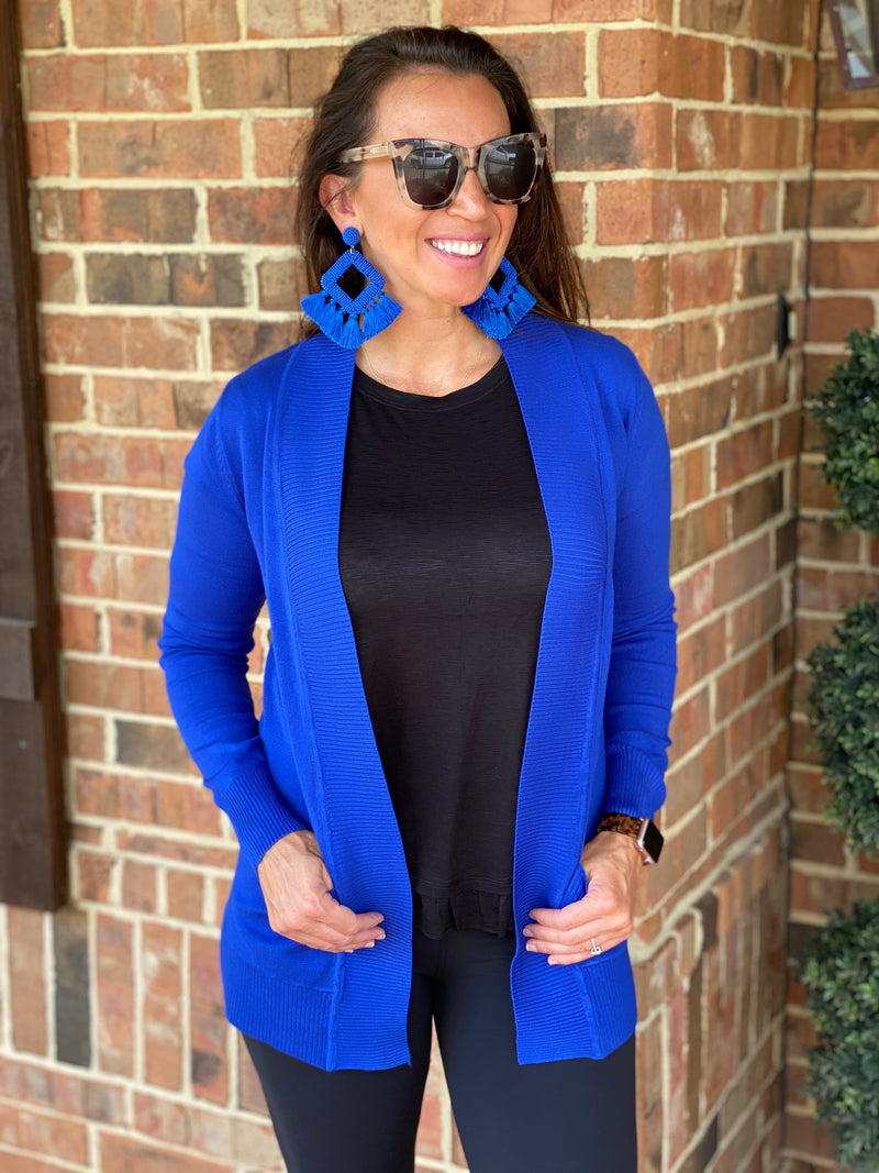The Favorite Cardi-Royal Blue