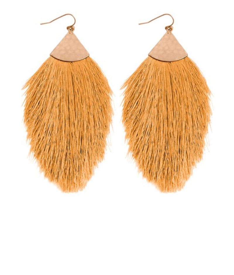 Tassel Drop Earrings-Gold