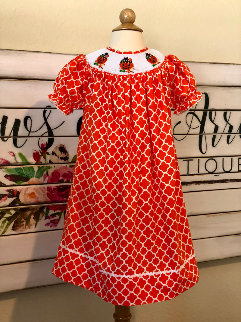 Halloween Smocked Dress