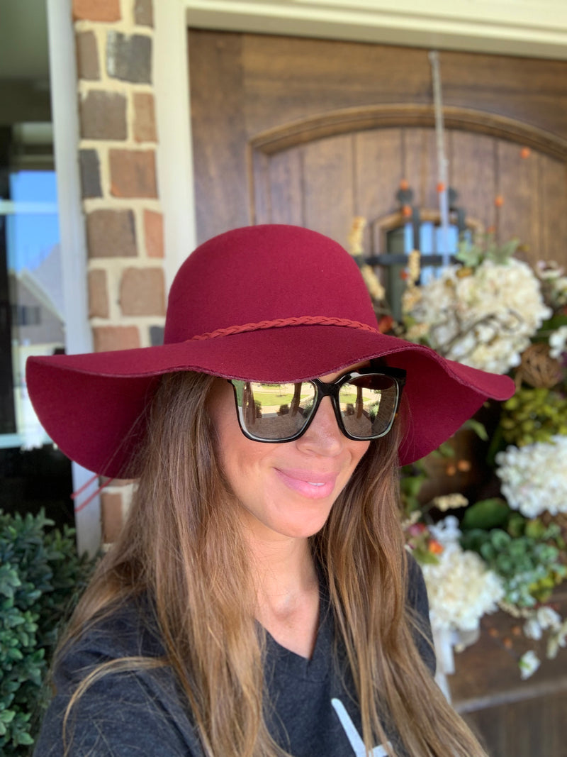 Find Me in Fredericksburg Hat-Cranberry